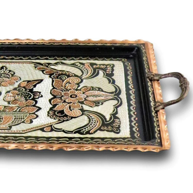 Turkish Tea Tray Handcrafted Copper - Padisah